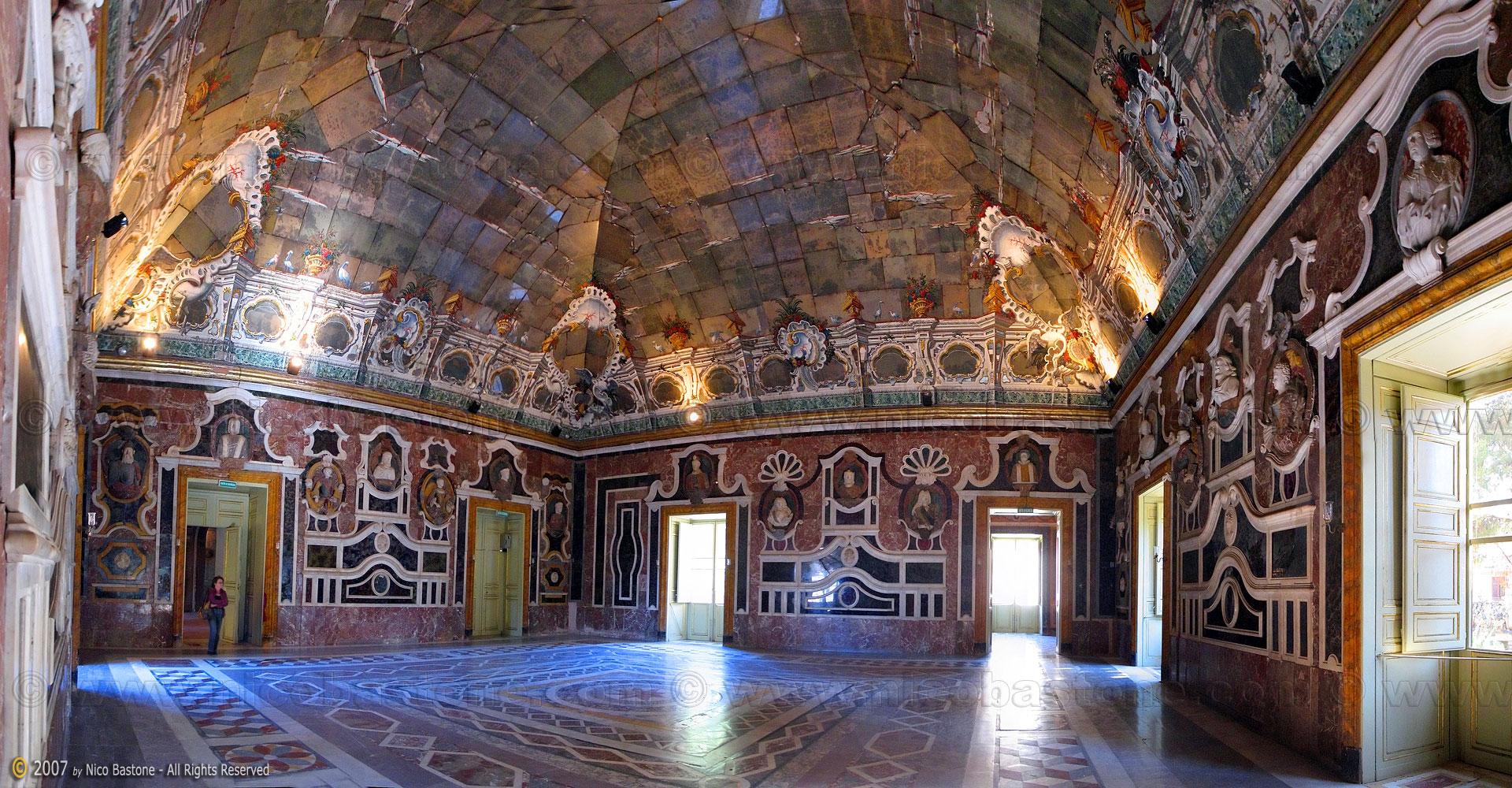 Panoramic photography foto panoramiche villa - Sala degli specchi ...