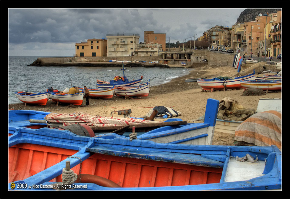 "Aspra, Bagheria PA ""Barche d'inverno - Boats in a winter day 1"""
