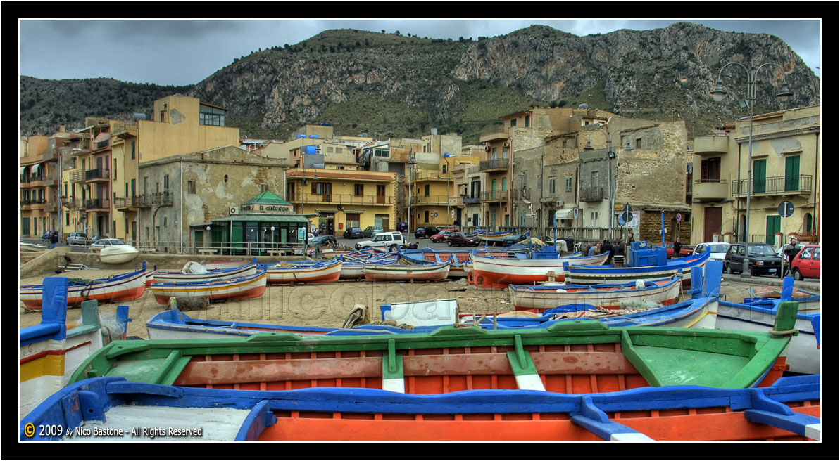 "Aspra, Bagheria PA ""Barche d'inverno - Boats in a winter day 2"""