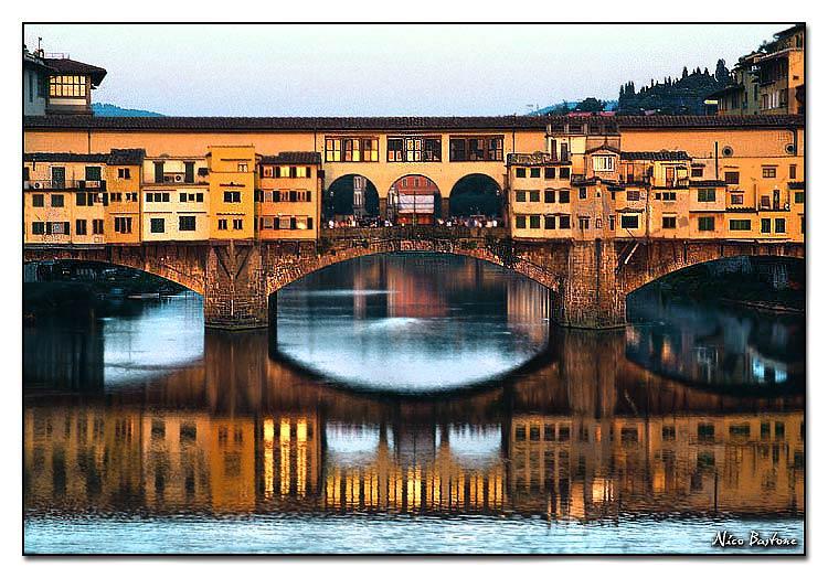 Romantic florence ponte vecchio