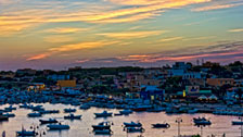 "Lampedusa 08, Isole Pelagie ""Tramonto con barche - Sunset with boats"""