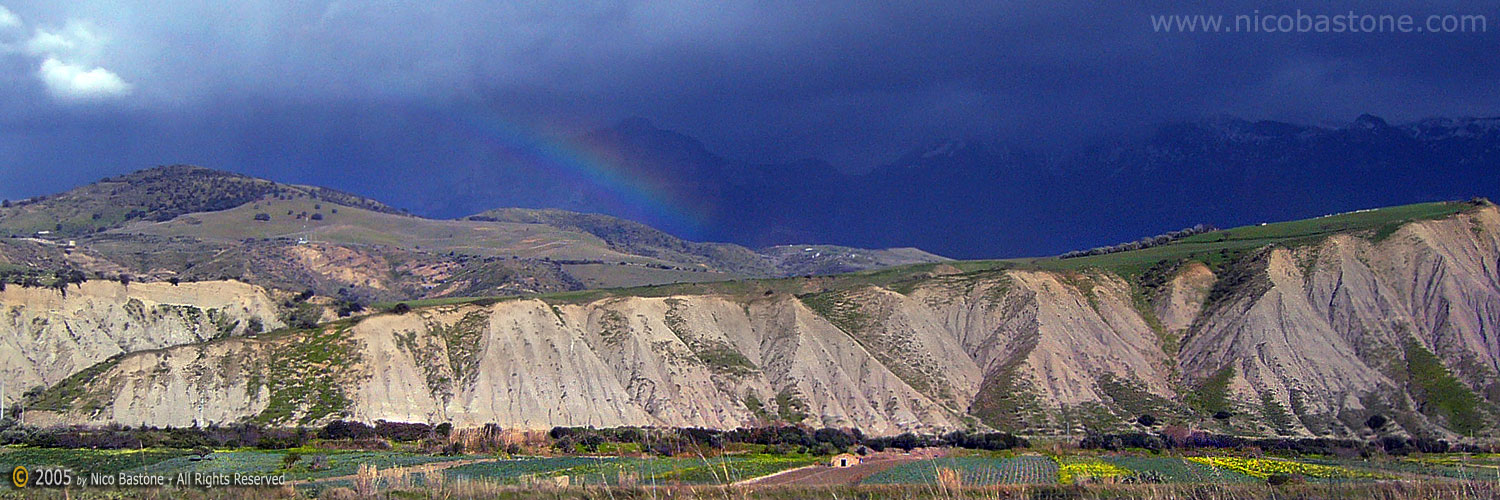 "Madonie ""Panorama con arcobaleno"" - ""Landscape with rainbow"""