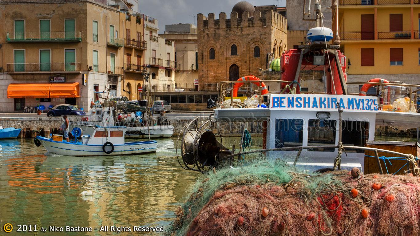Mazara del vallo tp fiume mazaro panorama con barche for Immagini della dispensa del maggiordomo
