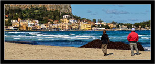 "Mondello, Palermo  ""Panorama in un giorno d'inverno - Seascape in a winter day"" 2"