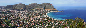 "Panoramic Photography - Foto Panoramiche - Mondello, Palermo ""Panorama del golfo - A large view of the gulf"" - 3600x800"