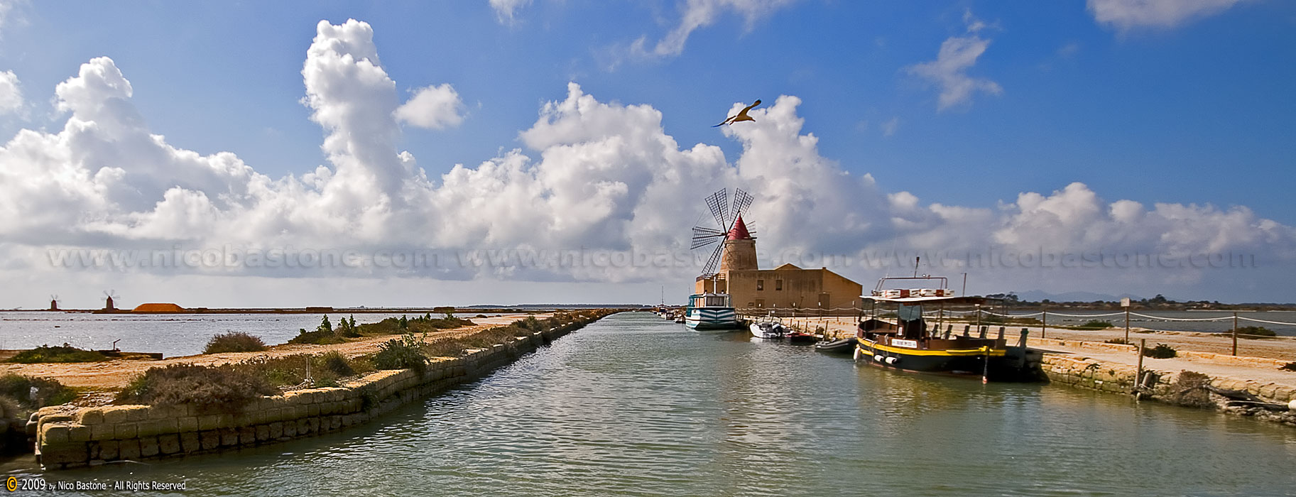 "Mothya, Marsala  ""The Saline"" (Salt production) - ""Windmill"" 1825x700"