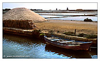 "Marsala  ""The Saline"" (Salt production) - ""Canal with rowing boat"""