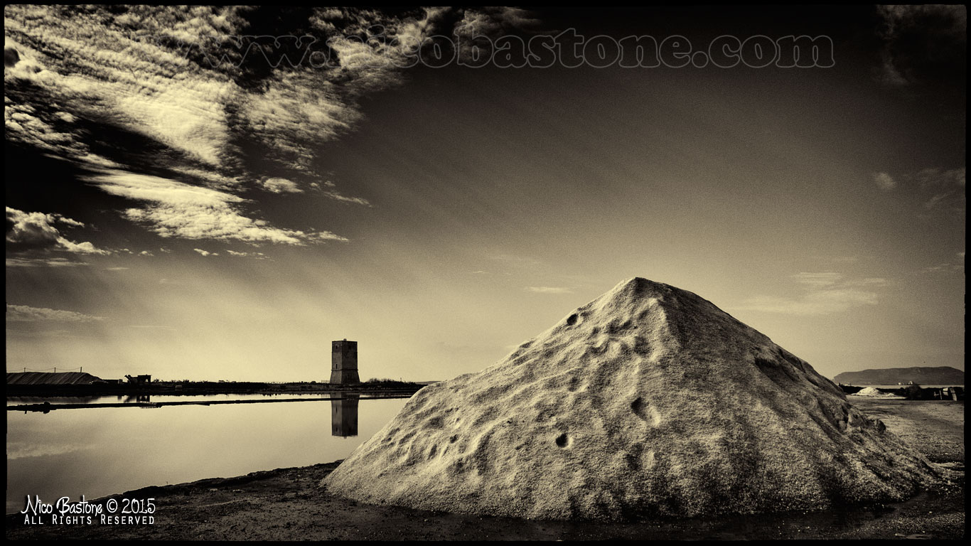 "Nubia, Paceco TP ""Le Saline - The salt flats. Black & White 04"""