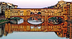 Romantic Florence - Ponte Vecchio (Great Bridges of the World 27th March - 30th June 2009 at Tower Bridge Exhibition, City of London)
