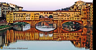 "Romantica Firenze ""Ponte Vecchio e riflessi sull'Arno"" - Romantic Florence ""Ponte Vecchio and reflections on the Arno river"" - Great Bridges of the World 27th March - 30th June 2009 at Tower Bridge Exhibition, City of London"