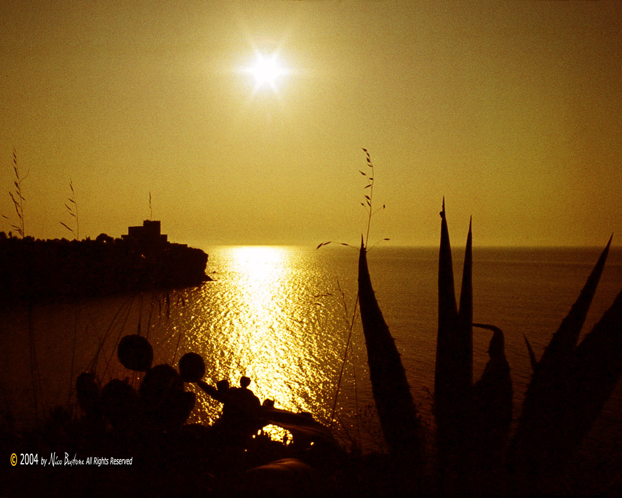 "Terrasini, Palermo - ""Sunset"" - Wallpapers Sfondi per Desktop - Copyright by Nico Bastone - All Rights Reserved"
